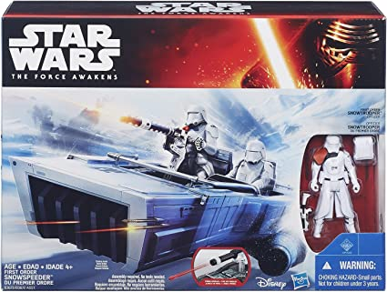 Star Wars The Force Awakens First Order Snowspeeder  with Snowtrooper Officer
