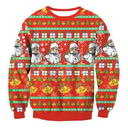 Otoño e invierno ropa de Navidad señoras suéter santa cuello collar suelto chaqueta