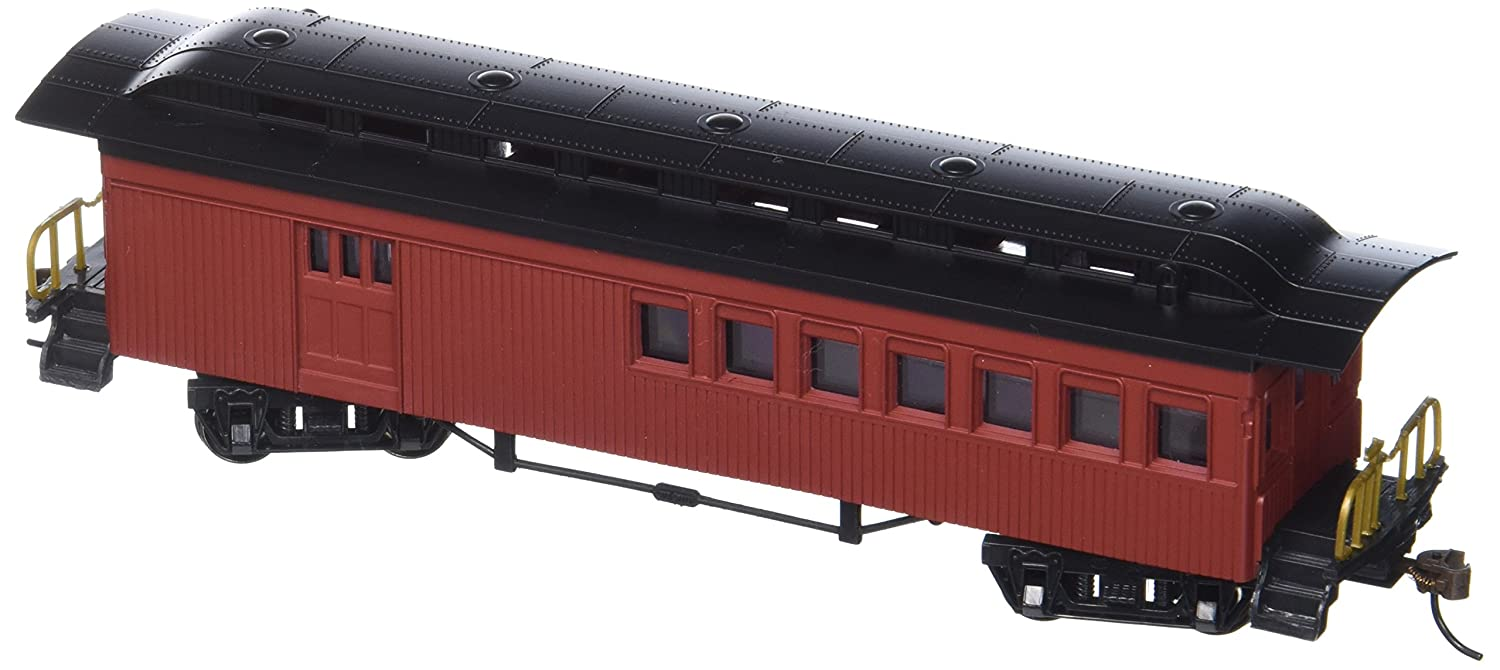Bachmann Industries 1860 1880 Passenger Cars Combine Painted Unlettered Red HO Scale