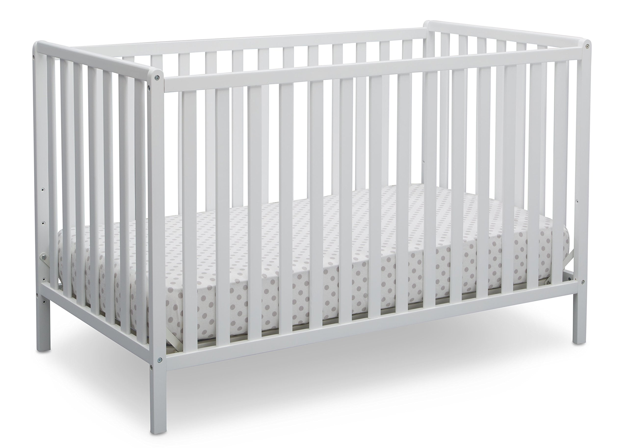 Delta Children Heartland 4-in-1 Convertible Crib, Bianca White