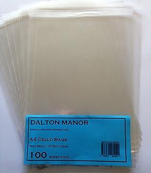 Amazon.com: Dalton Manor A4 bolsas de celofán (1000 unidades ...