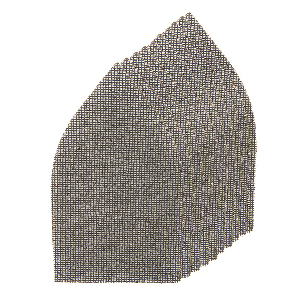 Silverline 935562 Lot de 10 triangles abrasifs treillis auto-agrippants 175 x 105 mm grain 80