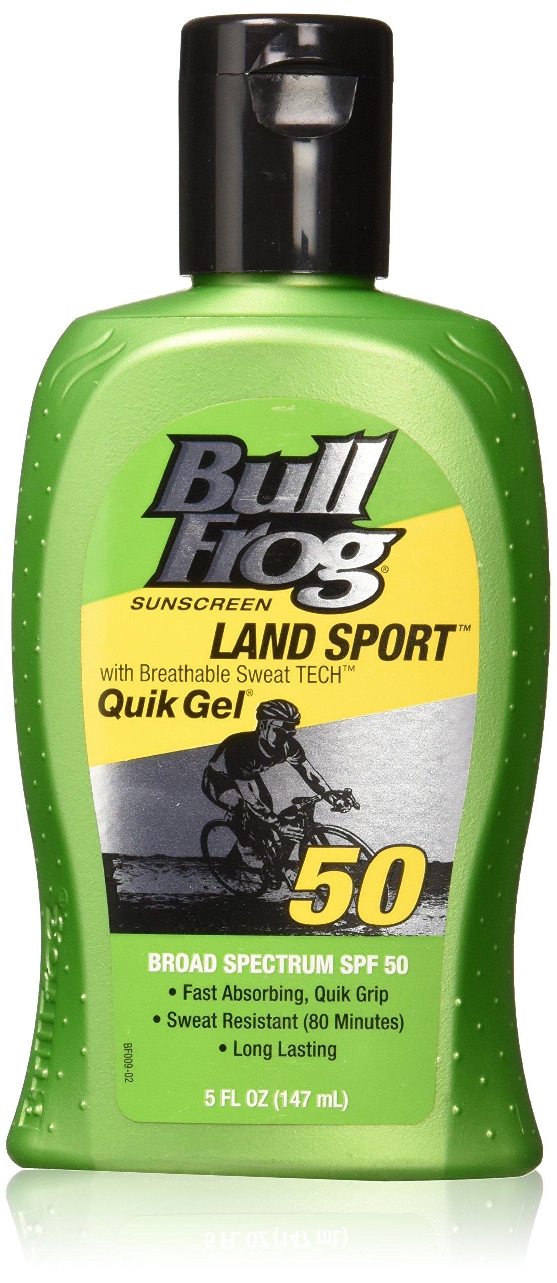 BullFrog Land Sport, Quik Gel Sunscreen SPF 50 (Pack of 2)