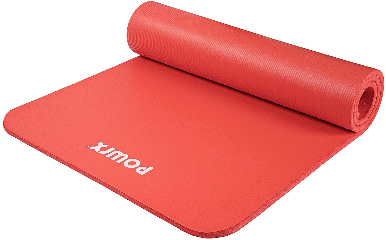 80 oder 100 x 1.5 cm I versch Rot, 190 x 60 x 1.5 cm POWRX Gymnastikmatte Yogamatte Premium inkl /Übungsposter GRATIS I Hautfreundliche Fitnessmatte Phthalatfrei 190 x 60 Trageband Tasche Farben