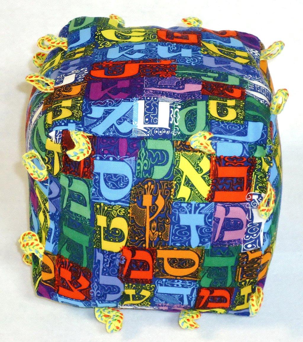 ソフトキューブJewish Hebrew Letters Baby Rattle (ブルー)   B00OTY9RZ2