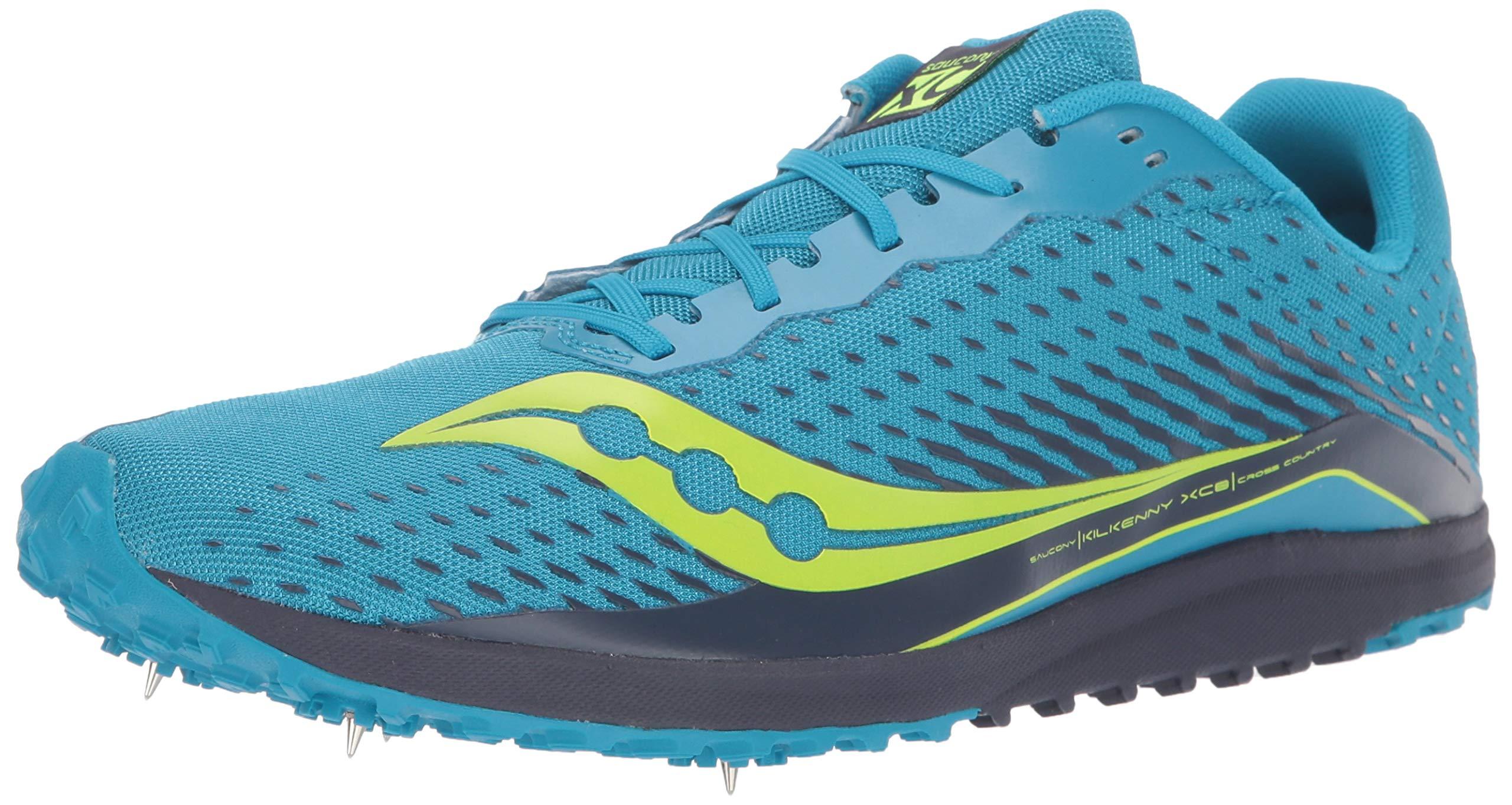 Saucony Men's Kilkenny XC 8 Track Shoe, Blue/Citron, 5 Medium US by Saucony