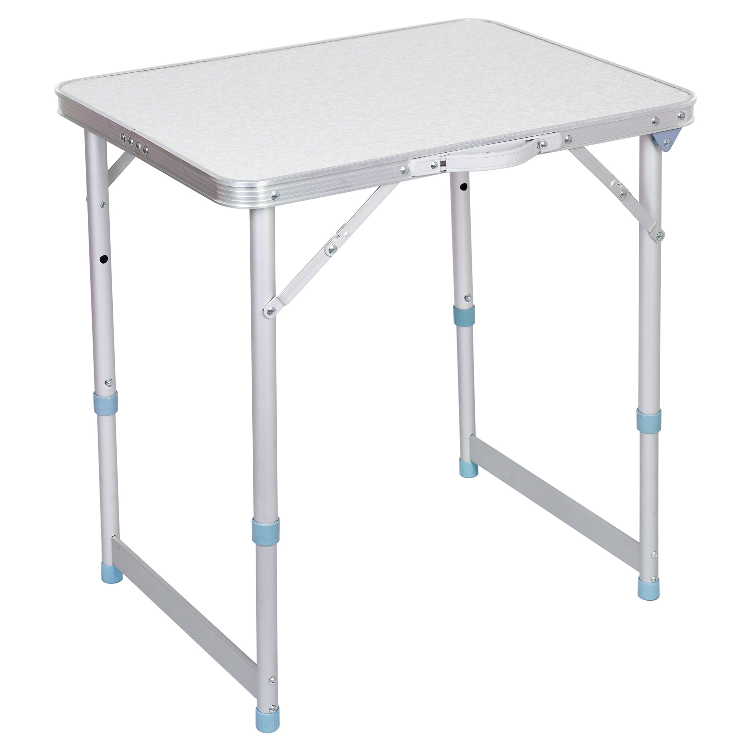 Portable Folding Camp Table with Carrying Handle, Adjustable Picnic Table for Indoor and Outdoor Use