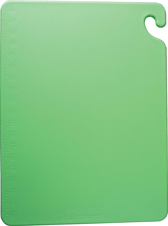 San Jamar - CB182412GN CB182412 Cut-N-Carry Co-Polymer Cutting Board, 24