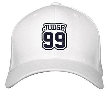 30ee8bcc232 Aaron Judge  99 Hat - New York - Adjustable Unisex White Baseball Cap at Amazon s  Sports Collectibles Store