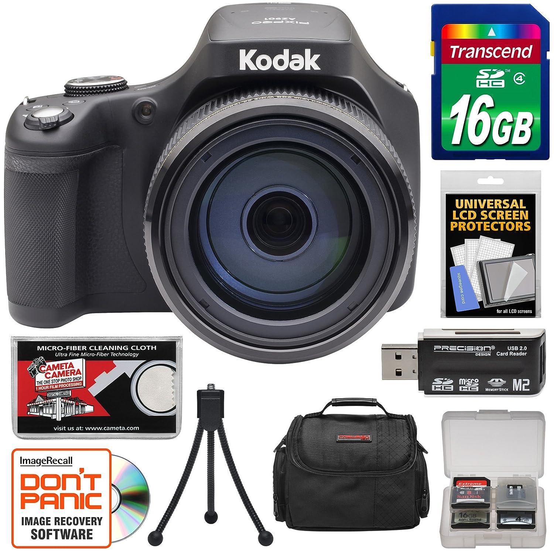 Kodak PixPro az901 90 x Astro Zoomデジタルカメラ(ブラック) with 16 GBカード+ケース+三脚+キット   B07CSK4TM8