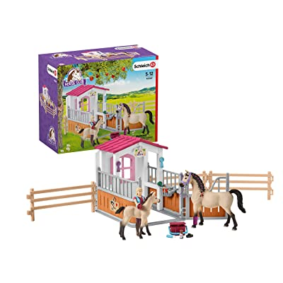 Schleich Horse Club Horse Stall with Arab Horses and Groom 26-piece Educational Playset for Kids Ages 5-12: Schleich: Toys & Games