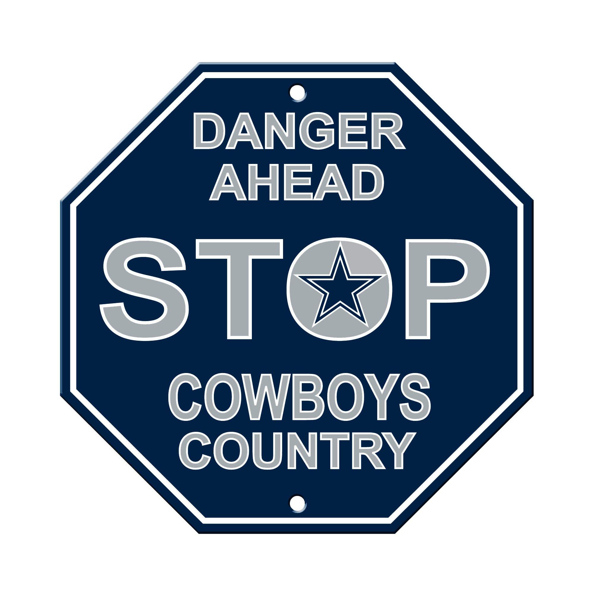 Fremont Die NFL Dallas Cowboys Stop Sign