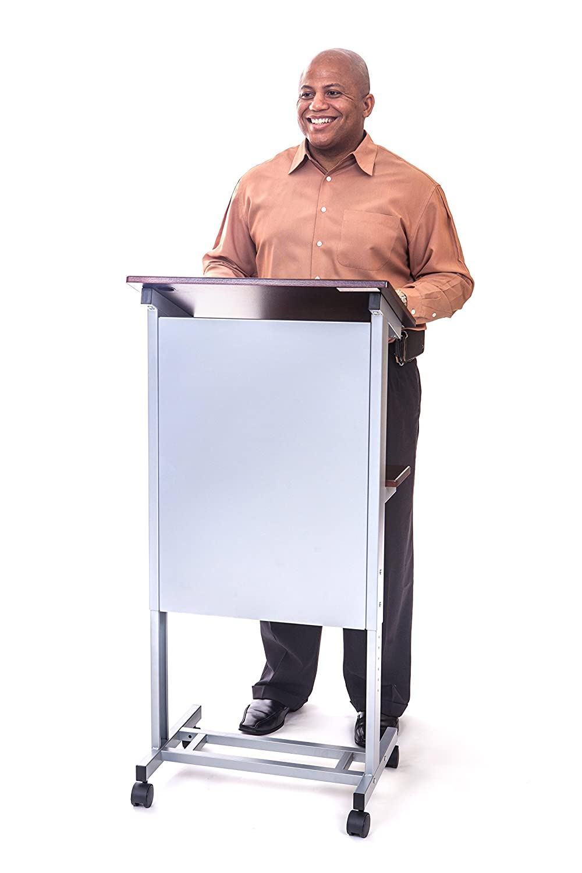 telaio in acciaio resistente Stand Up Desk Store mobile tavolino regolabile in altezza podio