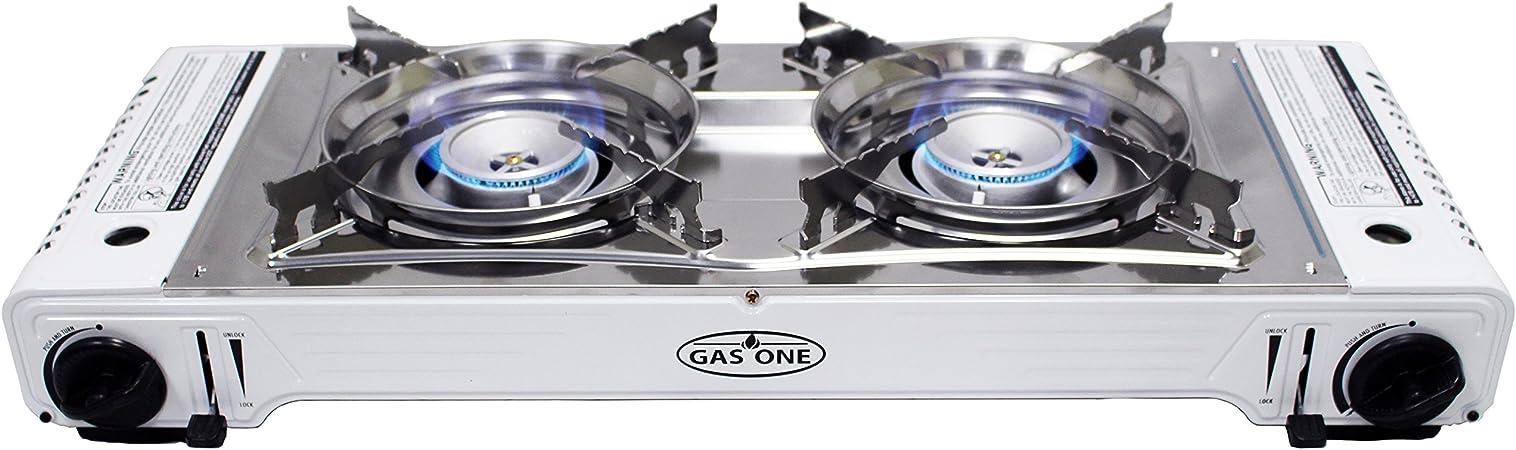Gas One GS-2000 - Hornillo Doble de propano y butano portátil ...