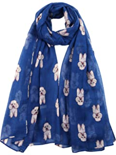 Poodle Modern Scarf Wrap Pashima Navy Blue /& Red Dog Lovers Gift UK Seller