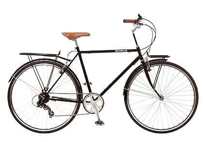 Amazon.com : City Bike, Commuting bicycle 700C, Black, 8 speed ...