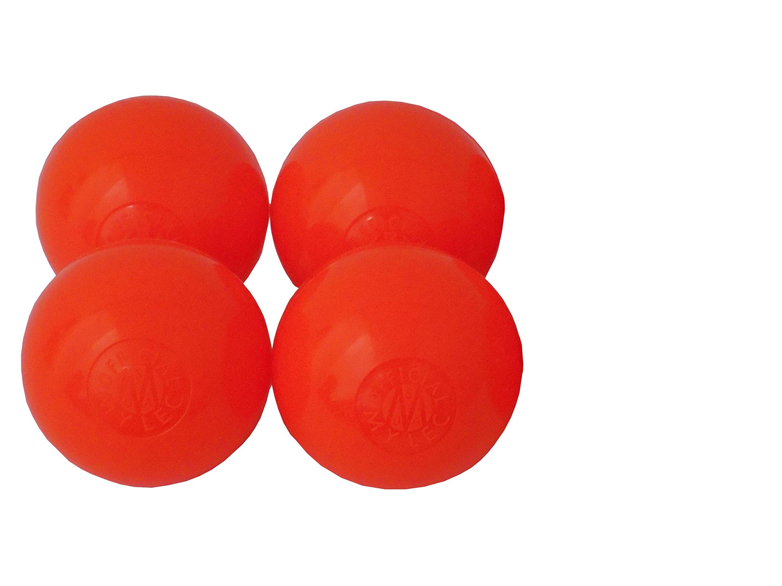Mylec Orange Warm Roller Hockey Balls- 4 Pack