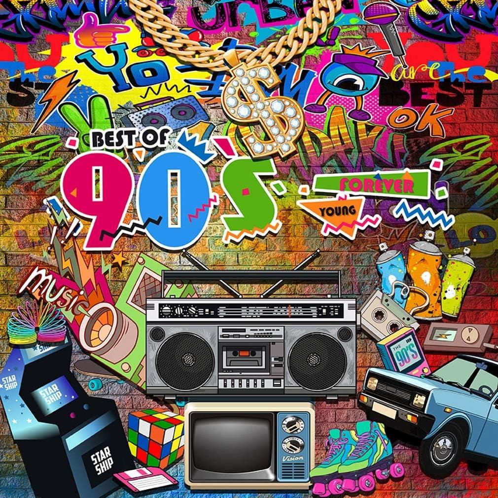 Amazon Co Jp 10x10フィート 90年代 ヒップポップテーマ背景 ヴィンテージ アーバングランジストリートアート背景 写真スタジオ ラッパー ダンス ミュージック パーティー ステージ 壁紙 デジタル カメラ