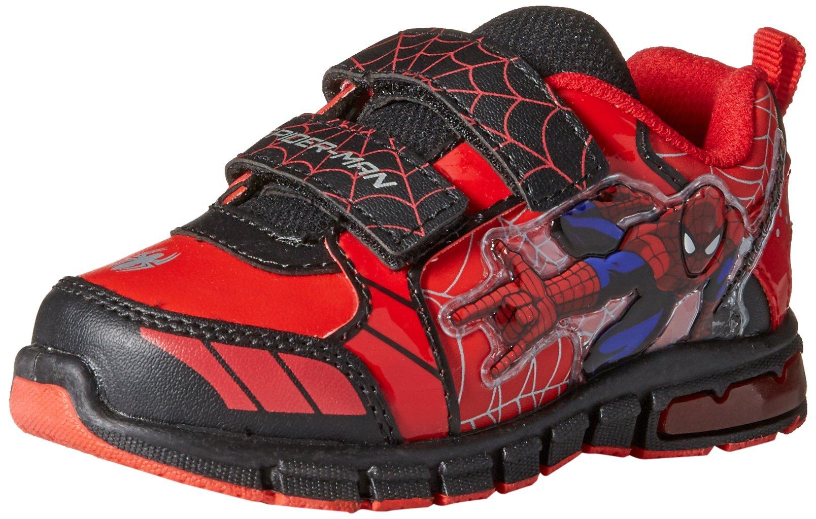 Marvel Ultimate Spiderman Shoes,Red/Black,7 M US Toddler