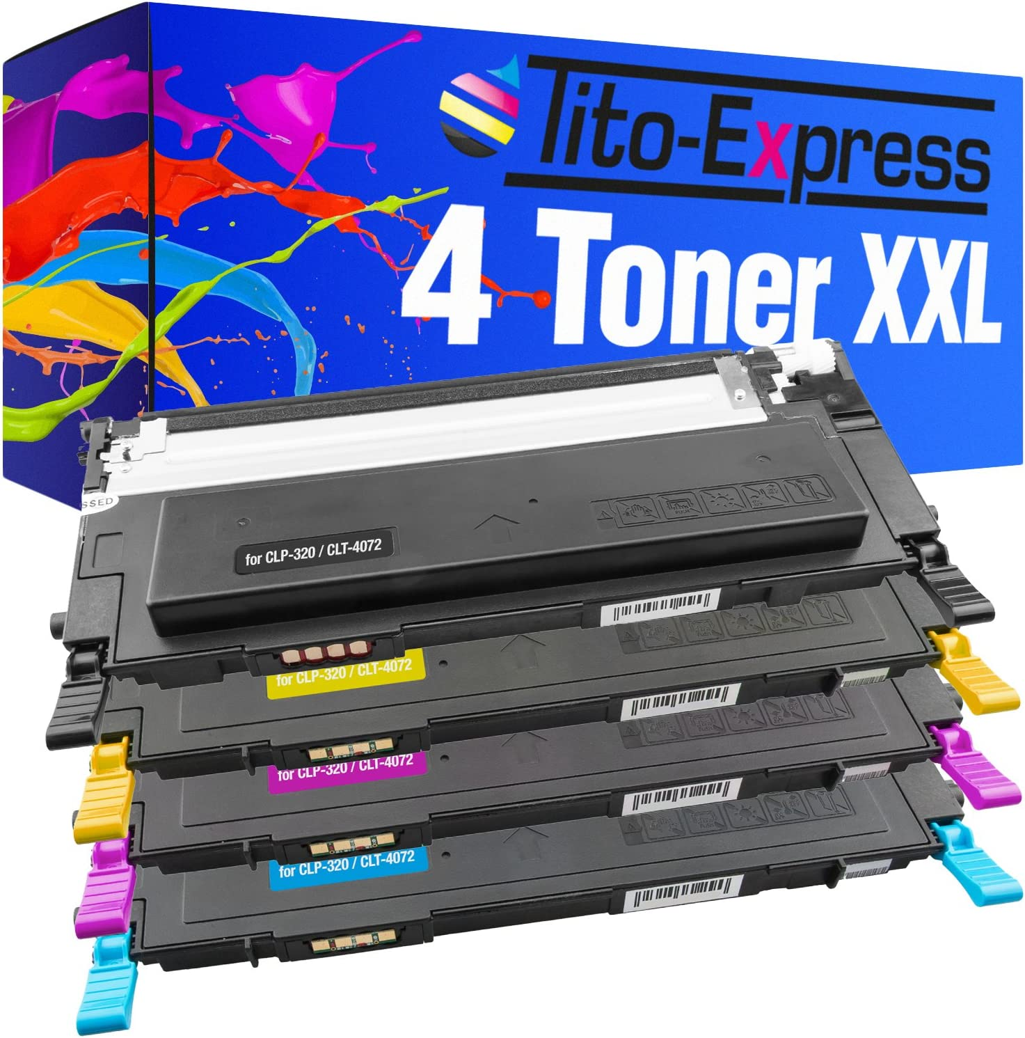Tito Express Platinumserie 4 Toner Xxl Kompatibel Mit Samsung Clt 4072s Clp 320 Clp 320n Clp 325 Clp 325n Clp 325w Black 2 500 Bürobedarf Schreibwaren