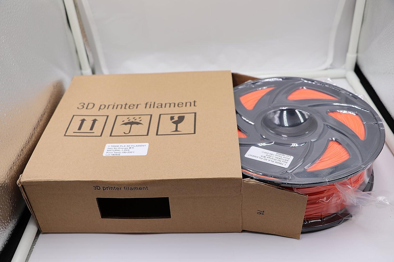 Filamento de impresión 3D naranja SAIH de 1,75 mm, filamento PLA ...