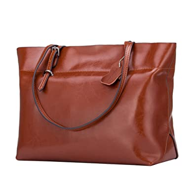 7e23adaceb Amazon.com  KEEPBLANCE Women s Leather Satchels Handbags Shoulder Bags Totes  Zipper Closure Purse  Shoes