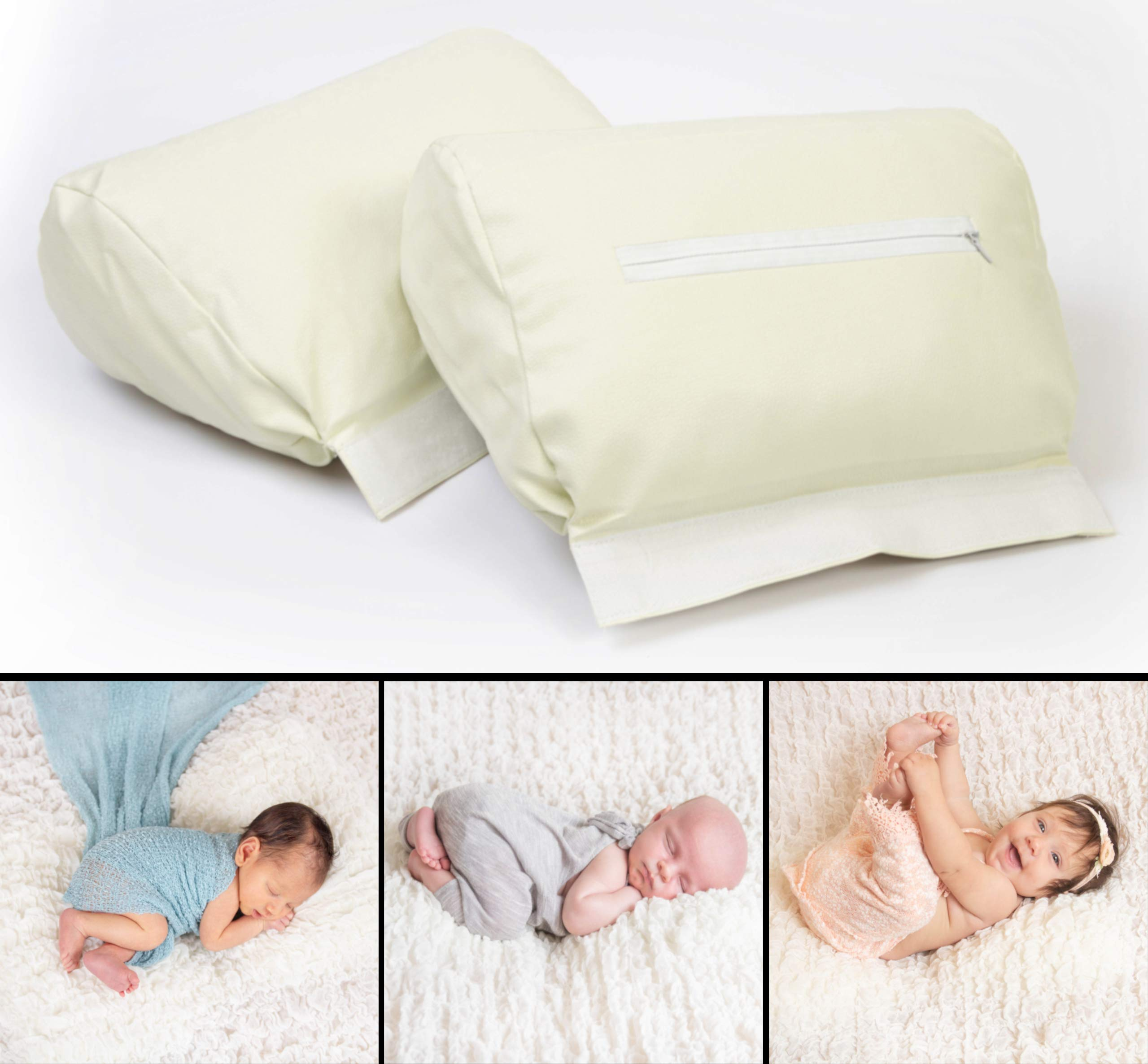 Newborn Photography Butterfly Posing Pillow - 2 Piece Detachable Baby Posing Props, New & Improved With 25% More Stuffing & Adjustable Fastening by The Adorable Teddy