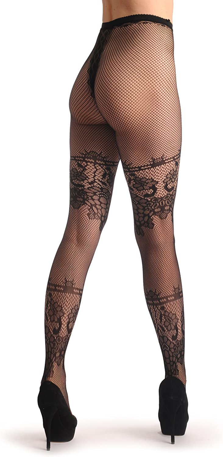 Two Wide Lace Stripes With Flowers Lace F001189