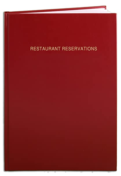 Amazoncom BookFactory Restaurant Reservations Book Day Table - Table reservation in restaurant
