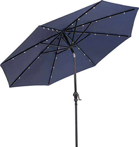 Sun-Ray 811051 9' Round 8-Rib Solar Patio Umbrella