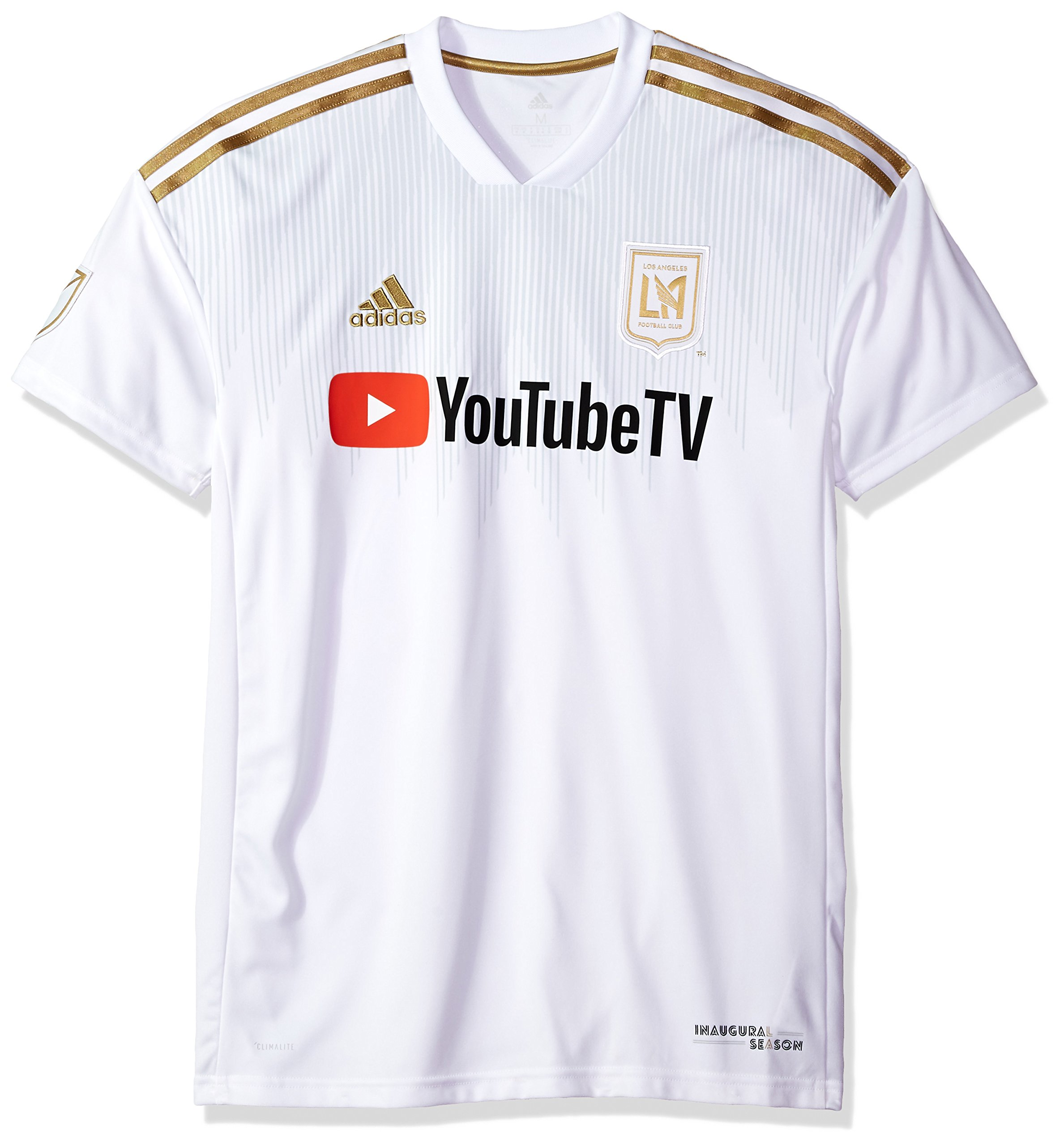 adidas MLS LAFC Men's Replica Jersey, Large, White
