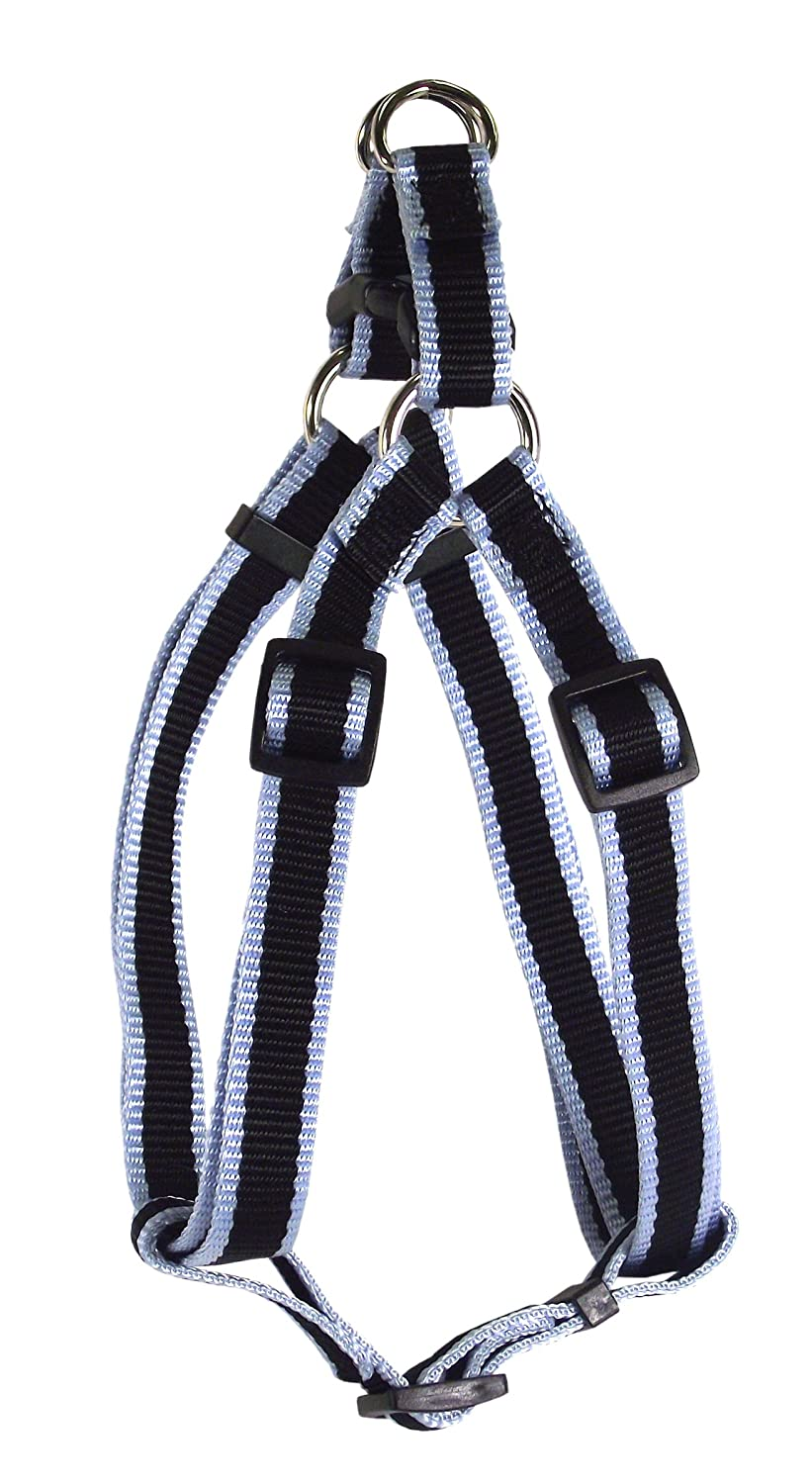 Triple Stripe Sky bluee 1\ Triple Stripe Sky bluee 1\ Hamilton 3-Stripe 1 by 30 to 40-Inch Adjustable Easy-On Dog Harness, Large, Sky bluee