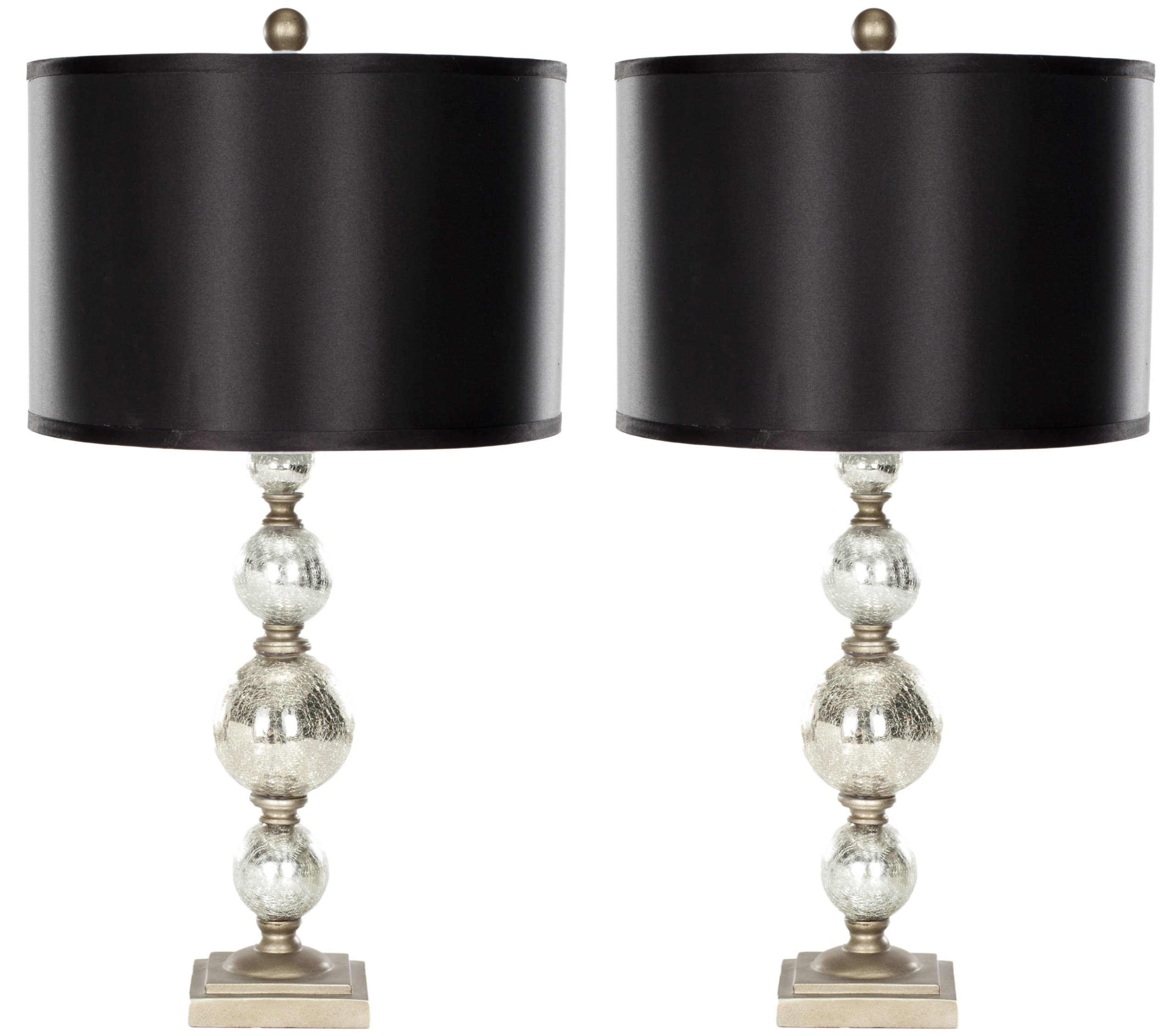Safavieh Lighting Collection Nettie Mercury Glass 28-inch Table Lamp (Set of 2)
