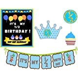 PartyPlane Baby Boy's Half 6 Month Birthday Decorations, Blue