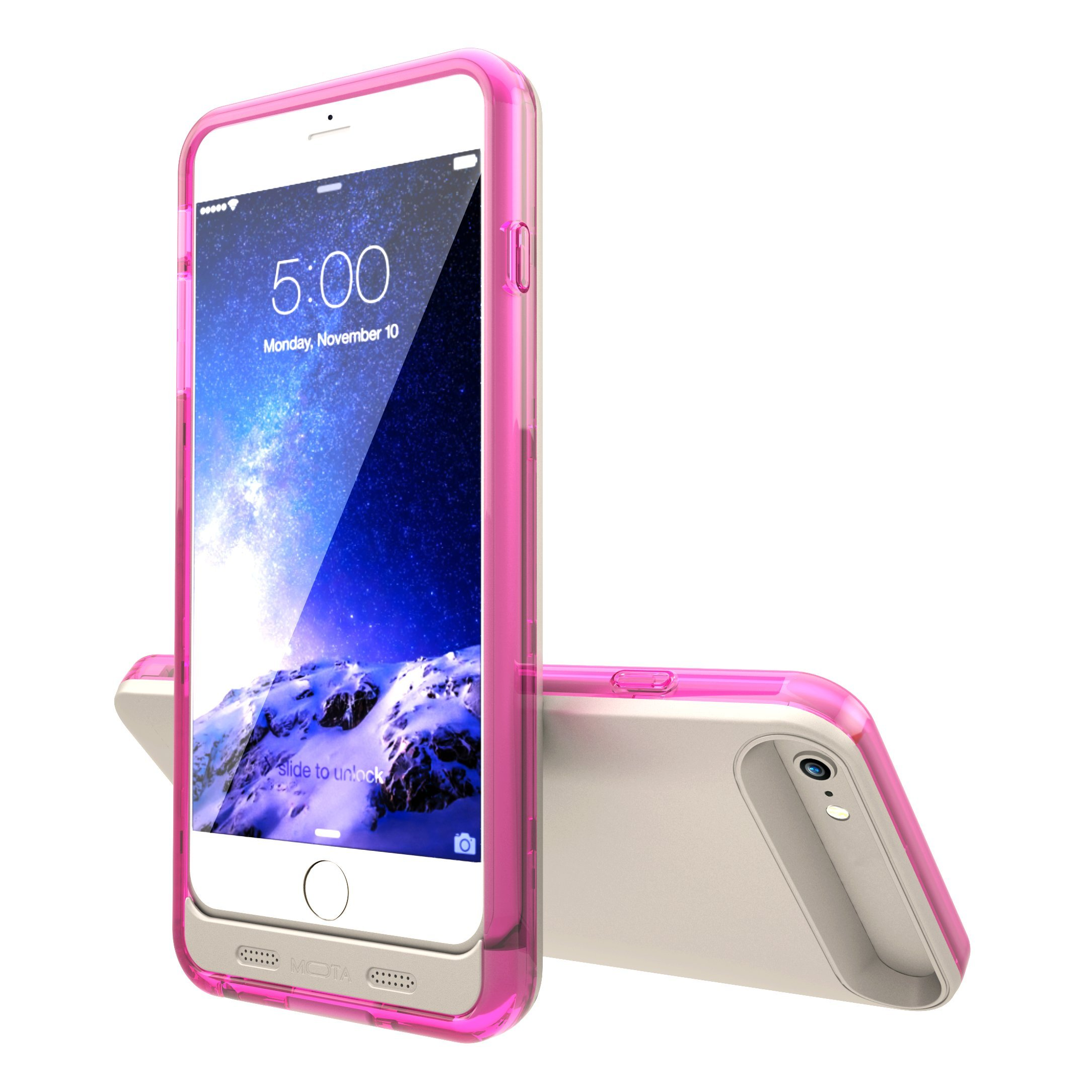 TAMO iPhone 6/6s Extended Battery Case, TAMO 2400 mAh dual-purposed Ultra-Slim Protective Extended Battery Case - Pink - Battery - Retail Packaging - Pink by TAMO (Image #5)