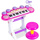 Best Choice Products 37-Key Kids Electronic Musical Instrument Piano Learning Toy Keyboard w/ Multiple Sounds, Lights…