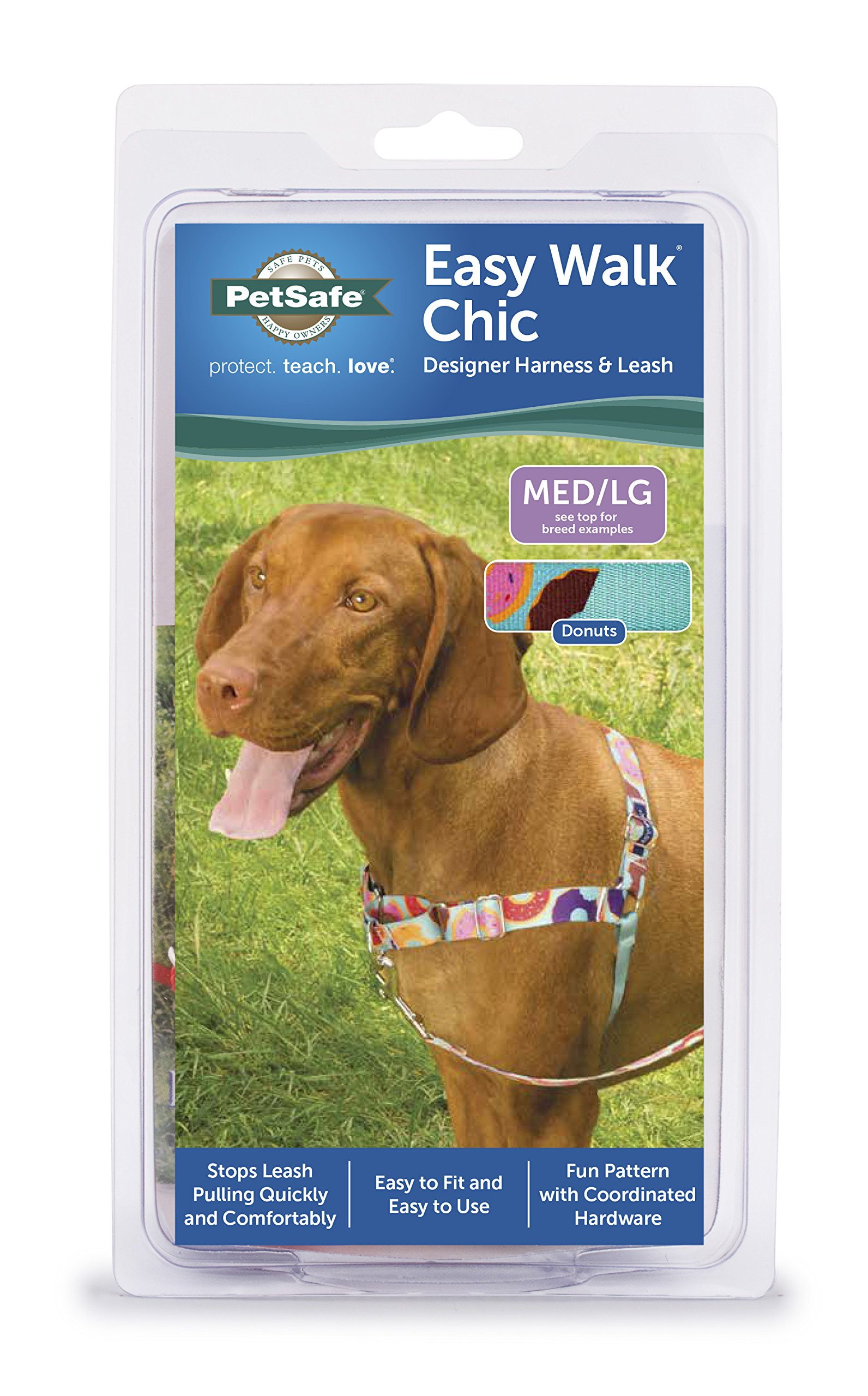 PetSafe EWH-C-HC-M/L-DNT Easy Walk Chic Harness, Medium/Large, Donuts by PetSafe (Image #2)
