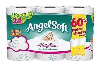 amazon com angel soft bath tissue double rolls print 12 count