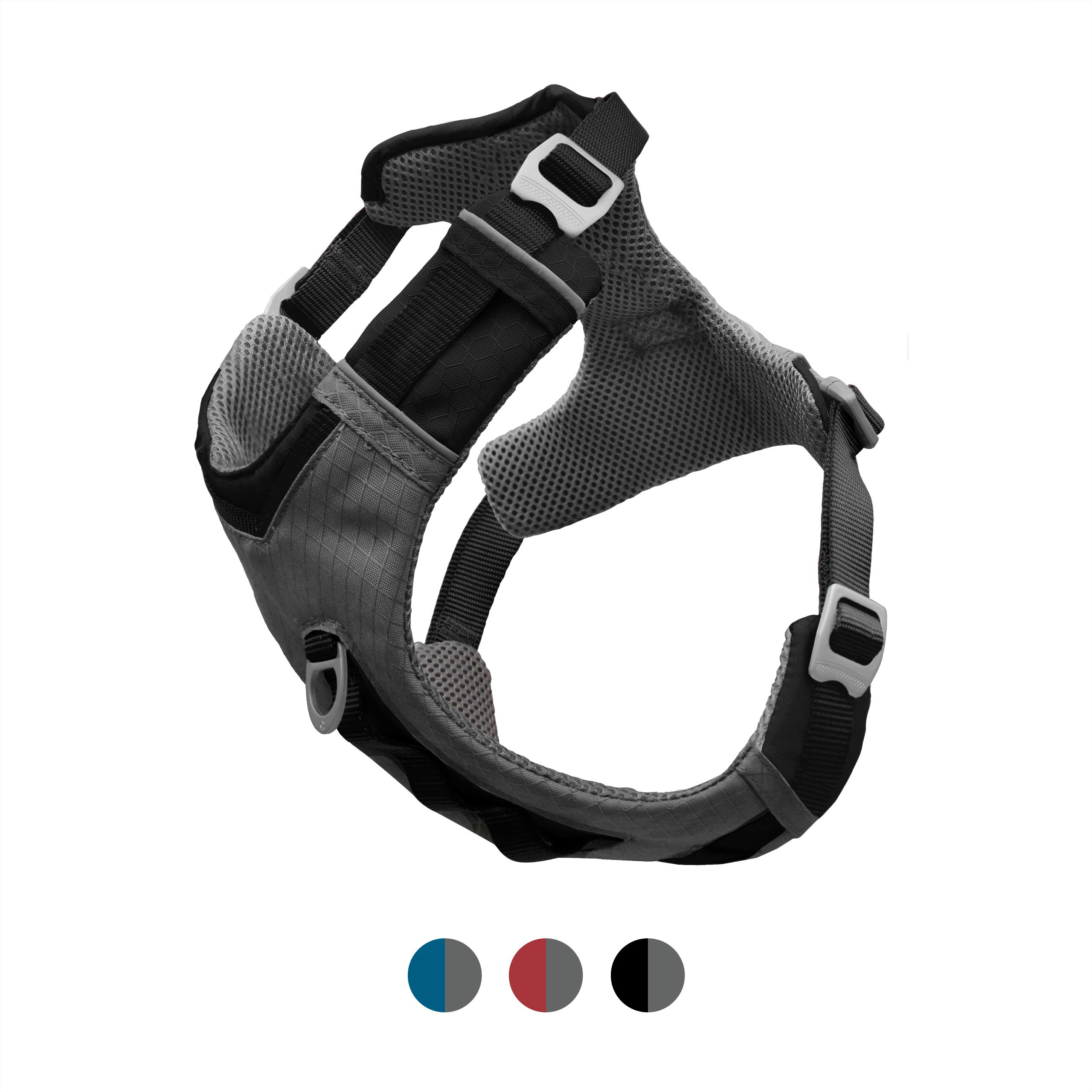 Kurgo Dog Harness for Small, Medium, Large Dogs, Reflective Harness for Running, Walking and Hiking, Journey Air Style