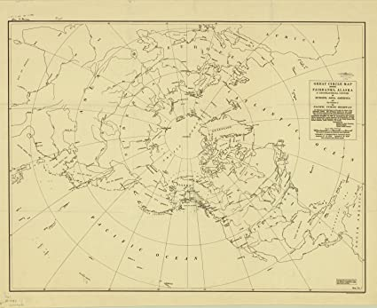 Map Of Asia 1930.Amazon Com Historic Map Arctic Regions 1930 Great Circle Map