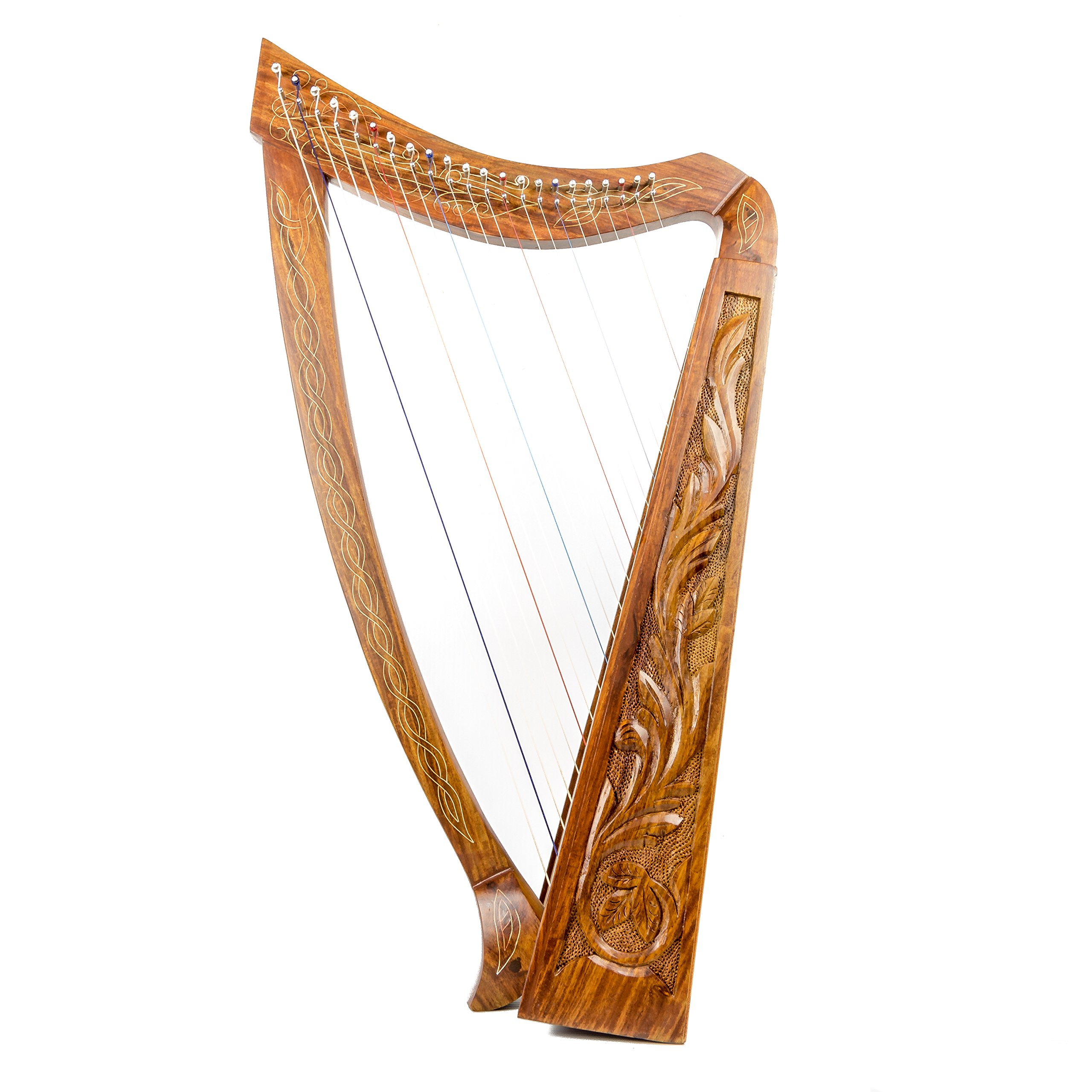 22 String harp SOLID ROSEWOOD Extra Strings & Carrying case Great for Teenagers