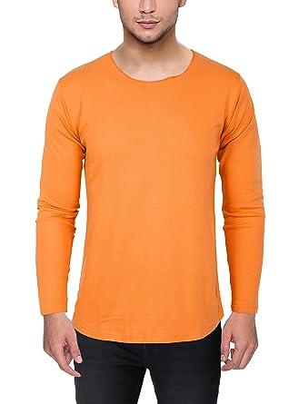a0aefbf2 Dryon Men's Cotton Round Neck Full Sleeves T-Shirt (Orange, Large ...