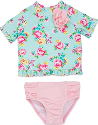 Little Me Baby Girl Two Piece Rashguard Swimsuit Size 12 18 24 Months Cheetah