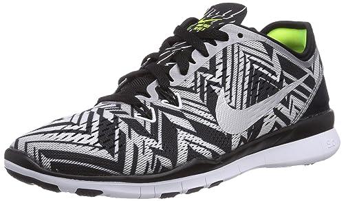 704695 001 Nike Free 5.0 TR Fit 5 Printed Ladies Running Shoes Black