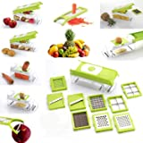 LEAVES (NOVEL SEARIES Plus Multi Chopper Vegetable Cutter Fruit Slicer,Works as Grater, Cutter, Peeler, Slicer, Chopper, Dicer & Zester (12 Blade)