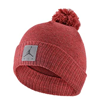 989cec74f56 Nike Air Jordan Jumpman Knit Cold Weather Beanie Hat and Gloves Set Cuffed  Cap (Heather Red) Boy s 4-7  Amazon.co.uk  Sports   Outdoors