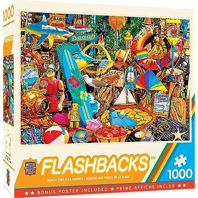 MasterPieces Flashbacks - Beach Time Flea Market 1000-Piece Jigsaw Puzzle: Toys & Games