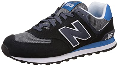 new balance 574 uomo black