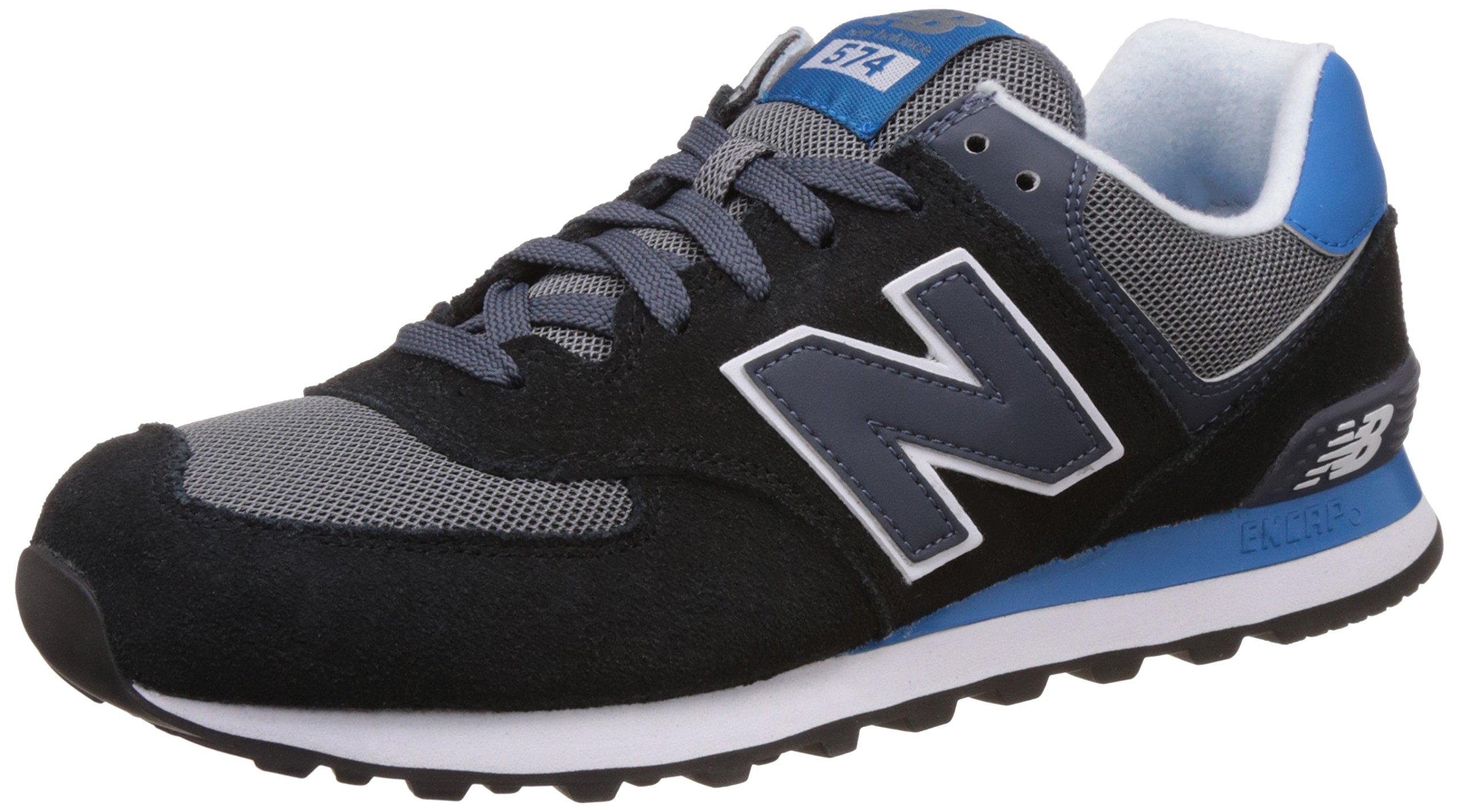Galleon - New Balance Menu0026#39;s ML574 Core Plus Fashion Sneakers Black/Grey 11 2E US