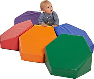ECR4Kids SoftZone Steady Stepping Stones for Kids, Assorted (6-Piece Set)